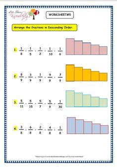 grade  maths worksheets  digit numbers  arranging