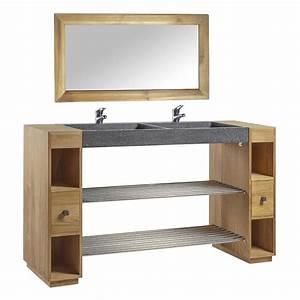 Meuble En Teck Pas Cher : meuble salle de bain en teck negara pas cher meuble salle de bain auchan ventes pas ~ Farleysfitness.com Idées de Décoration