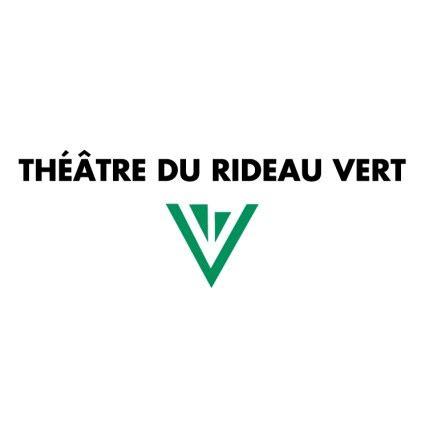 theatre du rideau vert logo vector logo