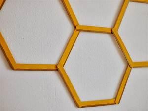 DIY Honeycomb Hexagon Popsicle Stick Wall Art | Pink ...