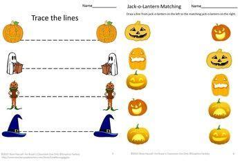 preschool kindergarten halloween math  literacy