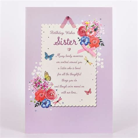 birthday card  sister images card design template