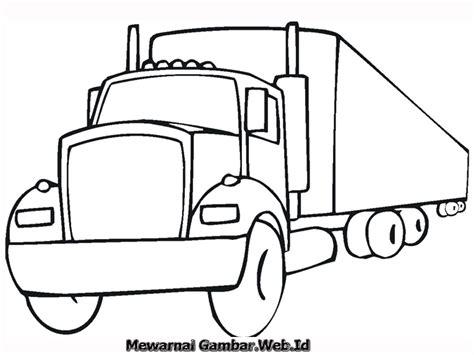 gambar mewarnai mobil truk mewarnai gambar