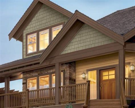 exterior paint colors for house with brown roof 07 house