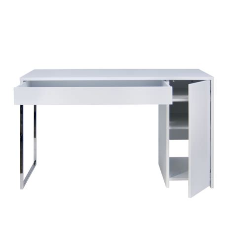 contemporary bureau desk prado home office desk chrome legs tema home modern