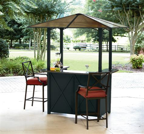 Outside Bar Furniture by Ty Pennington Style Sunset Hardtop Bar With 2 Bar