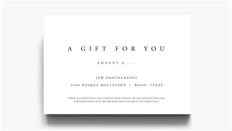 gift certificate template  gift   gift voucher etsy