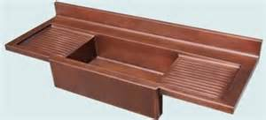 copper sink with double drainboard
