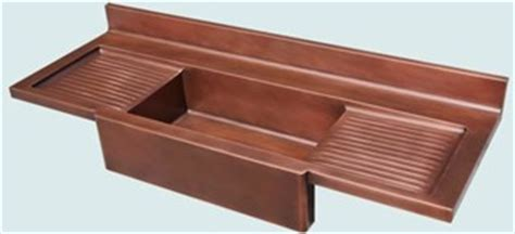 copper sinks with drainboards copper sink with drainboard
