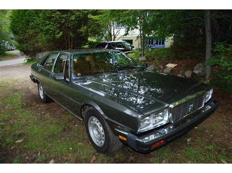 how to learn about cars 1985 maserati quattroporte lane departure warning 1985 maserati quattroporte for sale classiccars com cc 711067