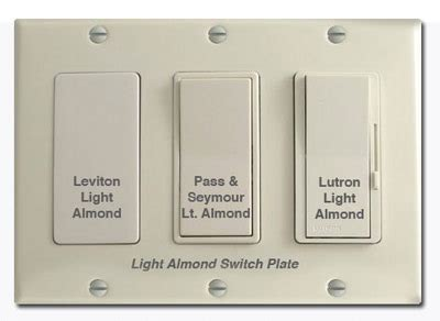 almond  ivory electrical device comparison pictures