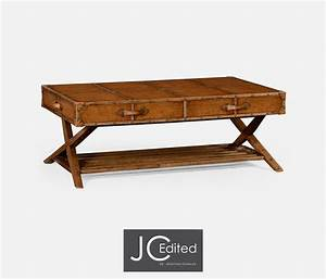 Travel trunk style coffee table for Trunk style coffee table