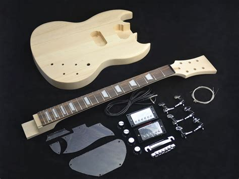sg style guitar kit maple top diy guitars
