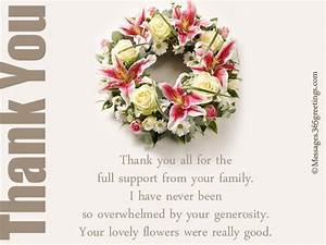 funeral thank you notes 365greetingscom With thank you letter for sympathy flowers