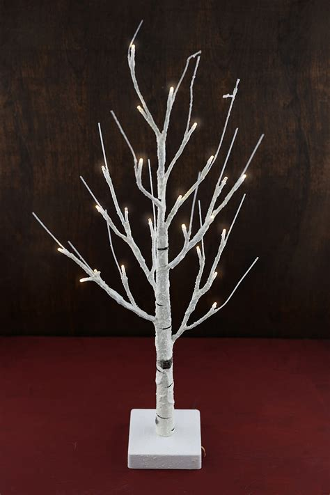 lighted led birch tree warm white
