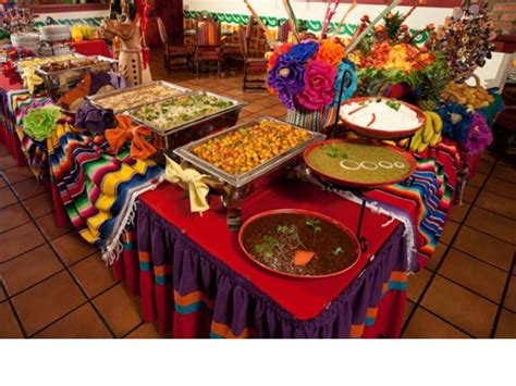 mexican buffet party cinco de mayo  de los muertos