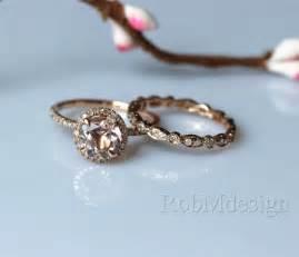 morganite halo engagement ring morganite engagement ring set 7mm cut by robmdesign on etsy