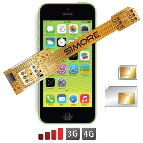 iphone 5c sim card x 5c dual sim card adapter for iphone 5c all ios