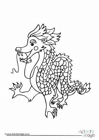 Dragon Chinese Coloring Pages Colouring Printable Welsh