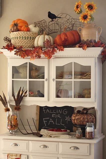 cute hutch decorated  fall pictures   images