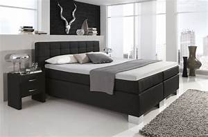 Boxspringbett 1 40 : dreams4home boxspringbett manhattan kt2 schwarz 100 140 ~ Whattoseeinmadrid.com Haus und Dekorationen