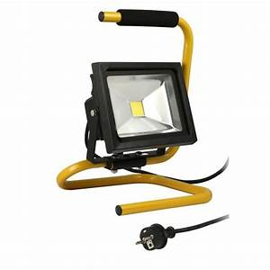 Projecteur De Chantier : projecteur de chantier led 20w portable c ble achat ~ Edinachiropracticcenter.com Idées de Décoration