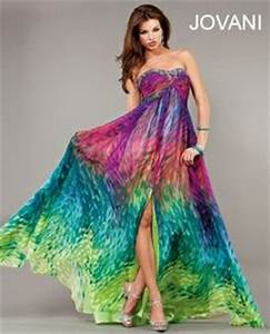 tropical flow neon prom dress