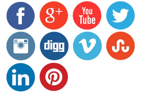 Clean And Neat Social Network Buttons Icon, Png Clipart