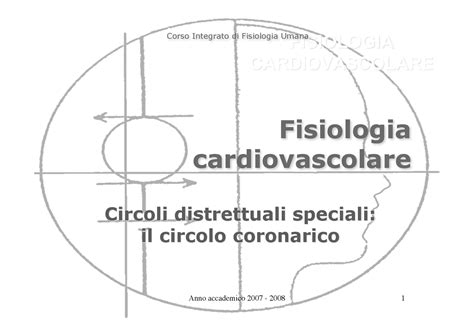 dispense anatomia umana fisiologia i circolo coronarico dispense