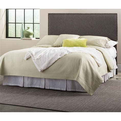 gray upholstered headboard fashion bed brookdale gray size upholstered