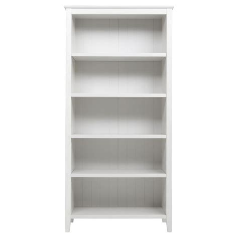 White Wood Bookcase by New Southwold Bookcase White 5 Adjustable Shelves Solid