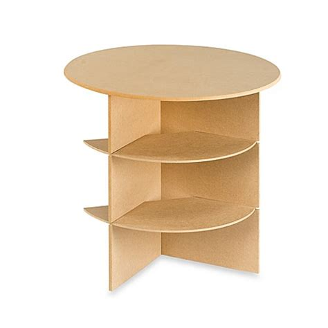 30 inch round particle board table 23 1 4 inch round decorator table with shelves bed bath