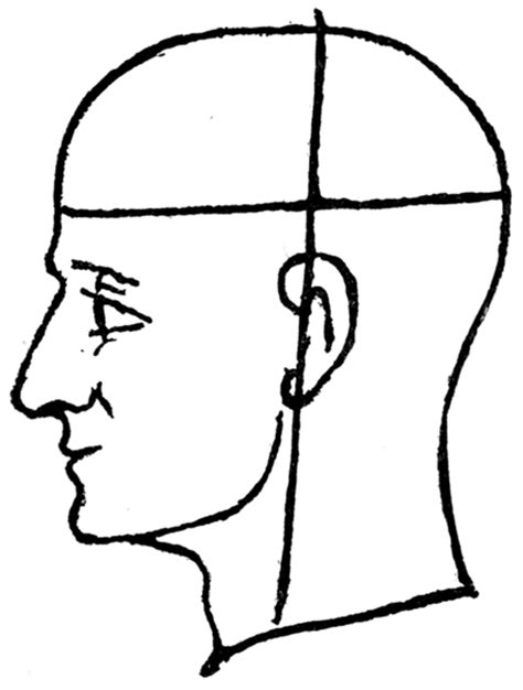 human head outline clipart clipground