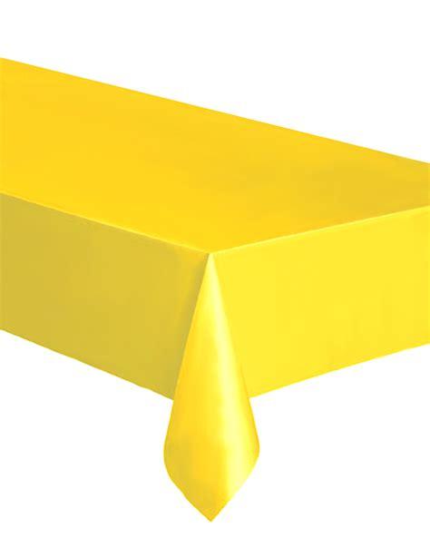 nappe rectangulaire en plastique jaune d 233 coration anniversaire et f 234 tes 224 th 232 me sur vegaoo