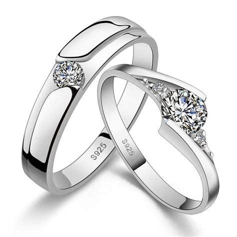 matching couple engagement rings wedding band