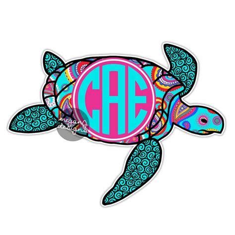 custom paisley sea turtle sticker colorful design cute car