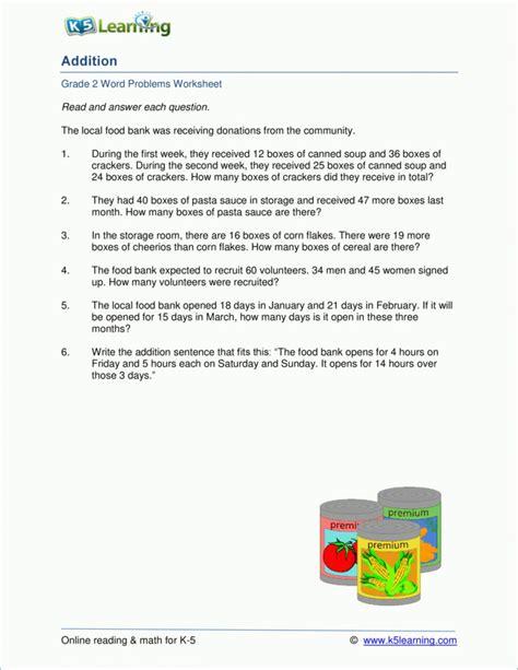 grade math money word problems worksheets  db