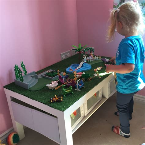 Ikea Hacks Kinderzimmer Spieltisch by Ikea Lack Coffee Table Hack For S Playmobil