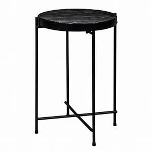 Table Basse Ronde Marbre : table basse ronde thilda slim marbre noire commandez les tables basses rondes thilda slim ~ Teatrodelosmanantiales.com Idées de Décoration