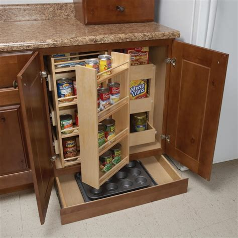 super pantry  toe kick drawer woodland cabinetry