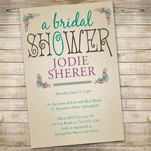 affordable vintage bridal shower invitations ewbs040 as With inexpensive wedding shower invitations