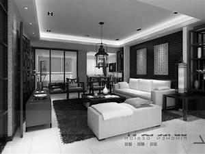 Entrancing 70+ Modern Black And White Living Room ...