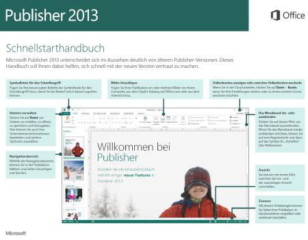 publisher 2013 schnellstarthandbuch verf 252 gbar it net