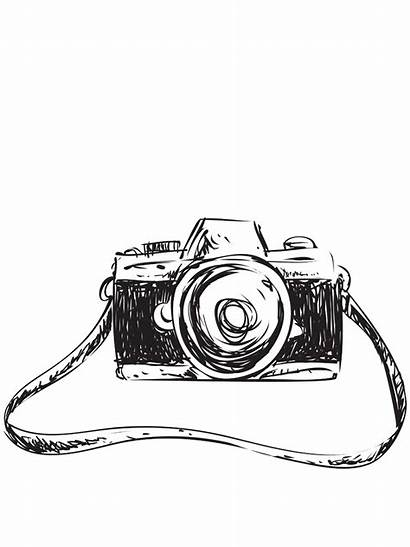 Sketch Clipart Camera Drawing Creative Transparent Background