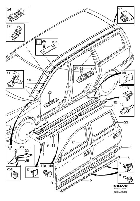Volvo Parts Diagrams 30678009 volvo clip mouldings trim rails volvo