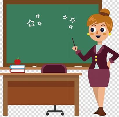 Teacher Drawing Clip Education Classroom Cartoon Clipart
