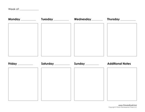 monday  friday printable calendar calendar