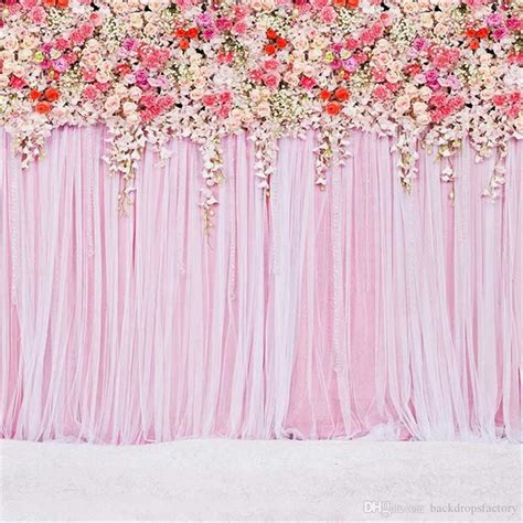 2018 10 Ft Pink Curtain Wall Wedding Backdrop Colorful