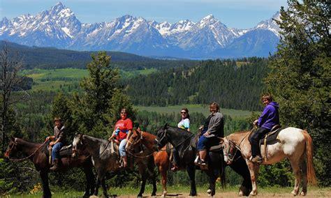 horseback riding teton jackson grand hole horse trail rides adventures summer