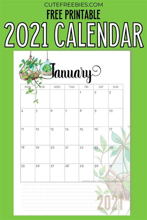 View 2021 Calendar Printable Free Cute  Images